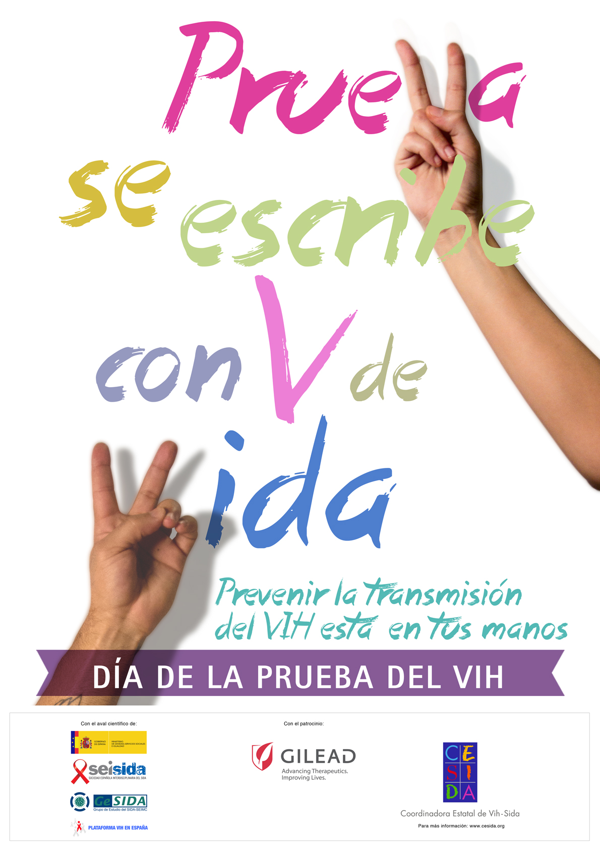 Campaña 2013 del Día de la Prueba del VIH: 'PrueVa se escribe con V de Vida'