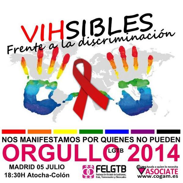 Convocatoria – Pancarta de CESIDA con FELGTB en Orgullo LGTB Madrid